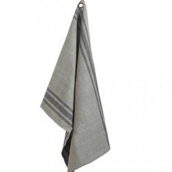 Torchon en coton gris