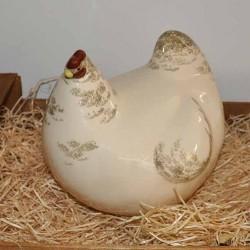 Poule en céramique moyen Modele