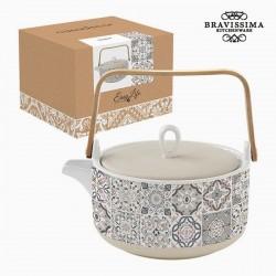 Porcelain teapot, gray