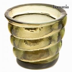 Bougeoir Verre recyclé - jaune