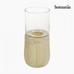 Kerzenschale Glas Holz -...