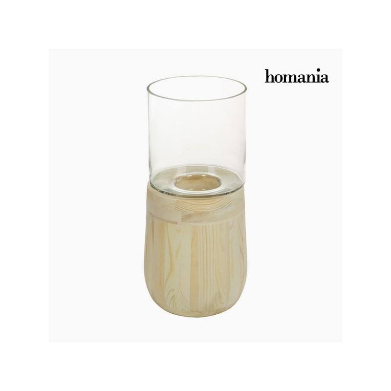 Kerzenschale Glas Holz - Pure Crystal Deco Kollektion
