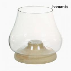 Houten glazen kandelaar