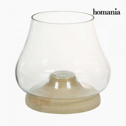Wood Glass Candlestick