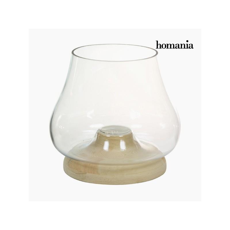 Holz Glas Kerzenhalter