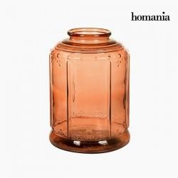 Candelabro de vidrio naranja