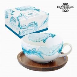 Tasse à infusion, eau bleue