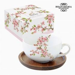 Tasse à infusion Porcelaine, arbres en fleurs