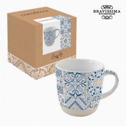 Porcelain cup, blue mosaic