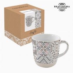 Porcelain cup, mosaic