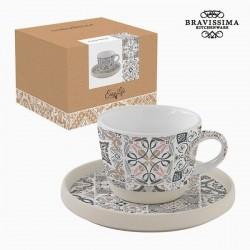 Small mug with saucer, mosaic