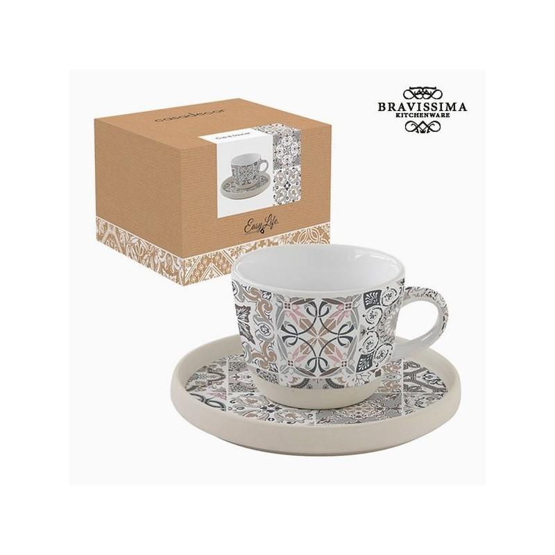 Petite tasse avec sous-tasse, mosaïque