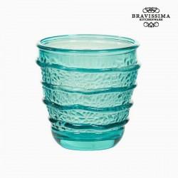 Trinkglas recycelt Türkis...