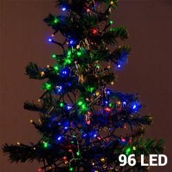 Mehrfarbige Weihnachtslichterkette (96 LED)