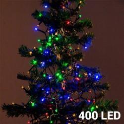 Mehrfarbige Weihnachtslichterkette (400 LED)