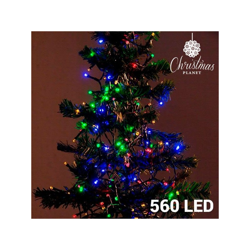 Mehrfarbige Weihnachtslichterkette (560 LED)