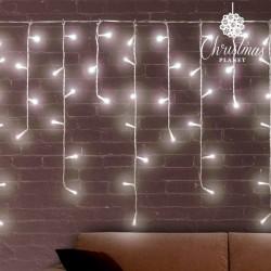 Weiße Weihnachtslichterkette Eiszapfen (200 LED)