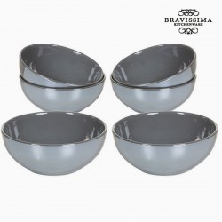 Ensemble de bols Gris (6 pcs)