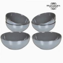 Gray bowls set (6 pcs)