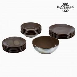 Geschirr Braun (19 Stück)