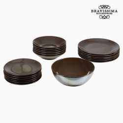 Plates Tableware Brown (19...