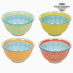 4 bols en porcelaine -...