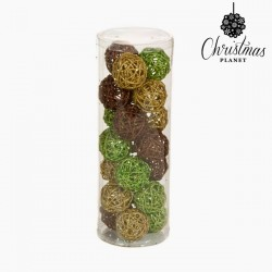 Christmas Baubles Coffee Gold Green (21 pcs)