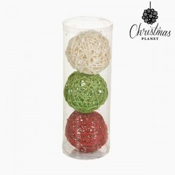 Christmas Baubles Red Green White (3 pcs)
