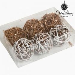 Boules de Noël Blanc Or (6...