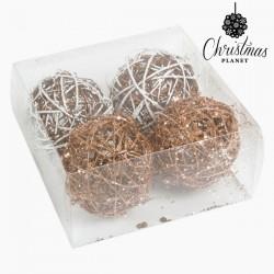 Kerstballen Wit Goud (4 pcs)