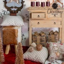 Weihnachtsbaumkugeln Weiß Gold (4 pcs)