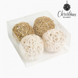 Christmas Baubles White Gold