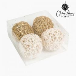 Weihnachtsbaumkugeln Weiß Gold
