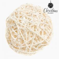 Boules de Noël Blanc Or (4 pcs)