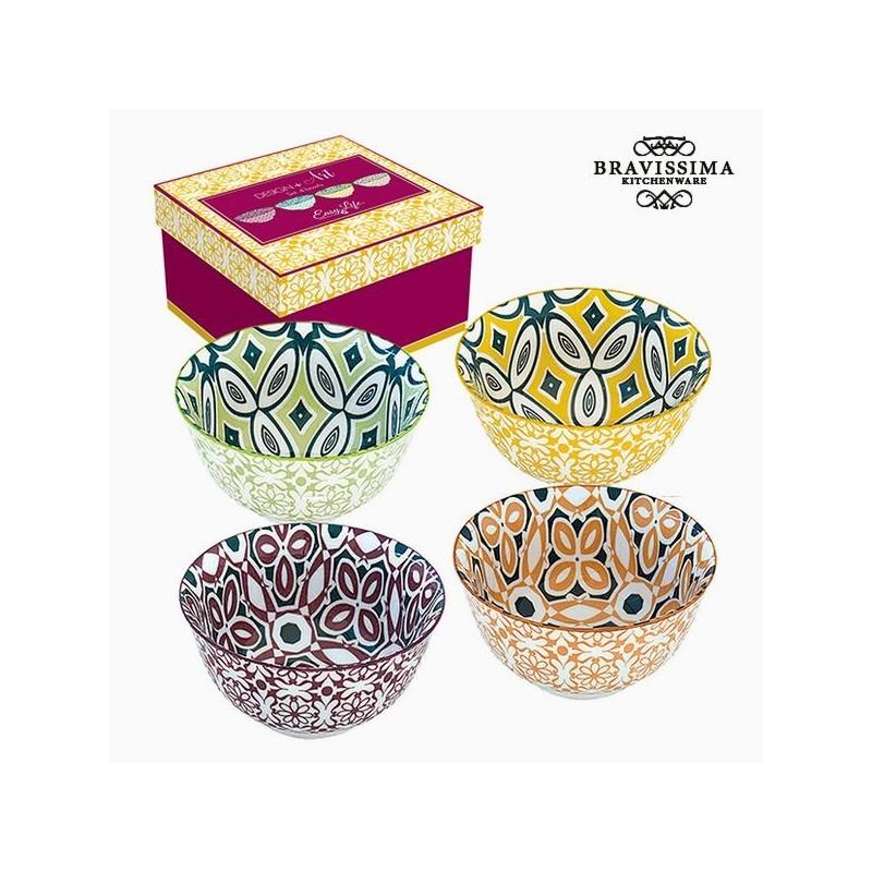 Set aus Porzellanschalen (4 Stück) Farbe