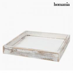 Plateau carré en bois blanc