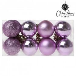 Boules de Noël Christmas 6721 4 cm (16 uds) Violet