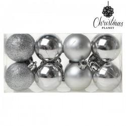 Weihnachtsbaumkugeln Christmas 6868 4 cm (16 uds) Silberfarben
