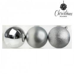 Weihnachtsbaumkugeln Christmas 7254 10 cm (3 uds) Silberfarben
