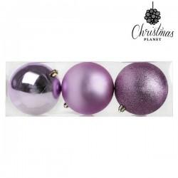 Boules de Noël Christmas 7339 10 cm (3 uds) Pourpre