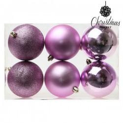 Boules de Noël Christmas 8008 8 cm (6 uds) Violet