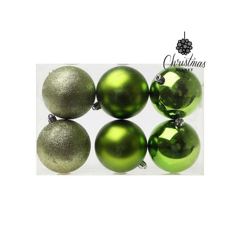 Kerstballen Christmas 8107 8 cm (6 uds) Groen