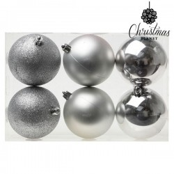Christmas Baubles Christmas 8121 8 cm (6 uds) Silver