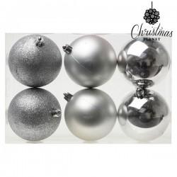 Weihnachtsbaumkugeln Christmas 8121 8 cm (6 uds) Silberfarben