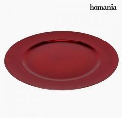 Assiette plate noel Rouge
