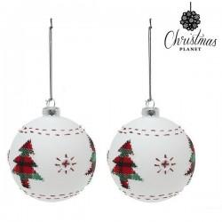 Kerstballen Christmas 1860 8 cm (2 uds) Kristal Wit