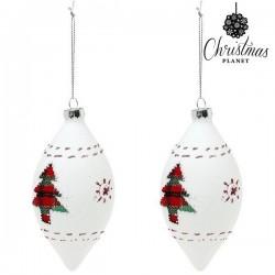 Weihnachtsbaumkugeln Christmas 1990 (2 uds) Kristall Weiß
