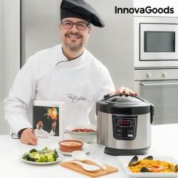 Robot de Cuisine avec Livre de Recettes 4 L 800W Noir Acier