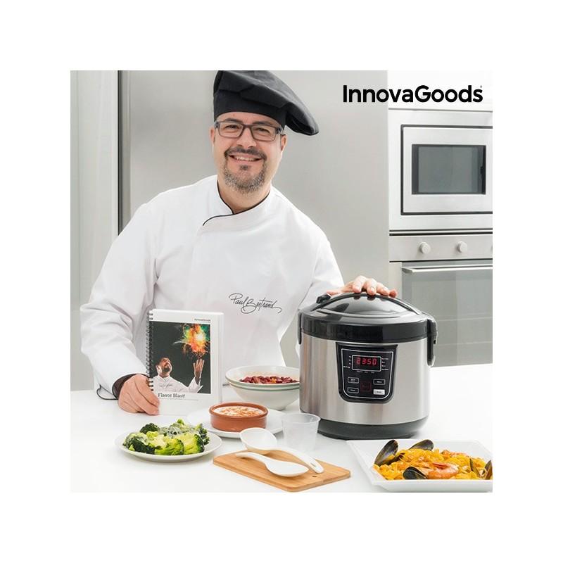 Smart Multicooker met Receptenboek 4 L 800 W Zwart Staal