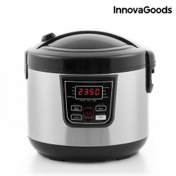 Smart InnovaGoods Smart Cook Robot with Recipe Book 4 L 800W Black Steel